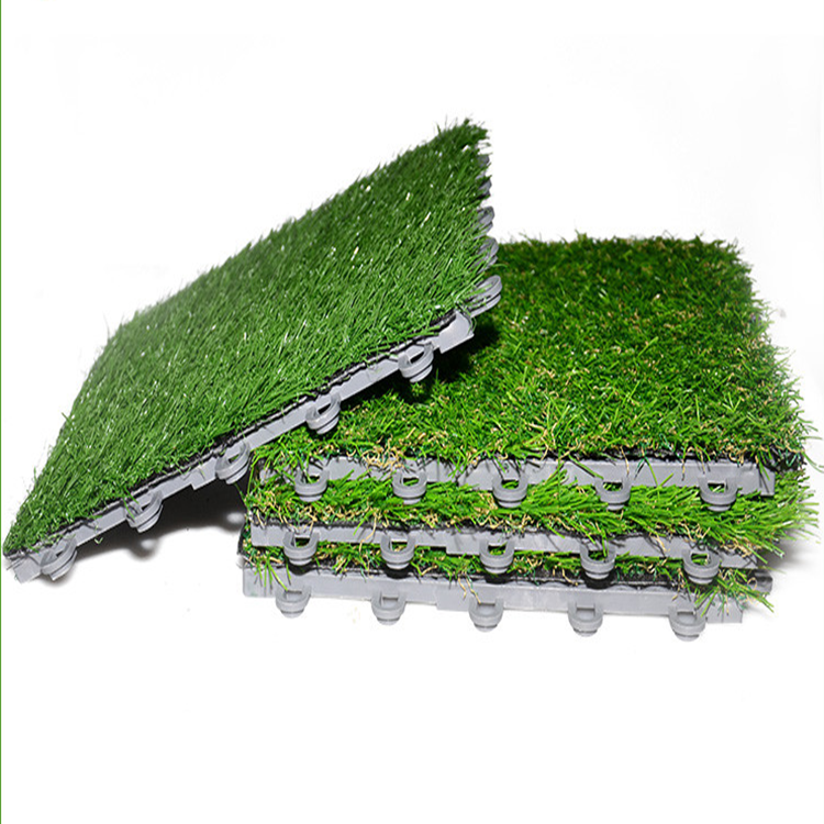 Latest Styles Removable PP Tile Artificial Grass Synthetic Grass for Garden