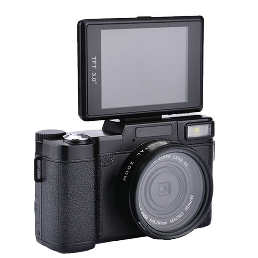 HR2 Digital Camera Video Digital+Camera Camcorder HD Display 3 Inch Portable 4x Zoom with Flip Screen