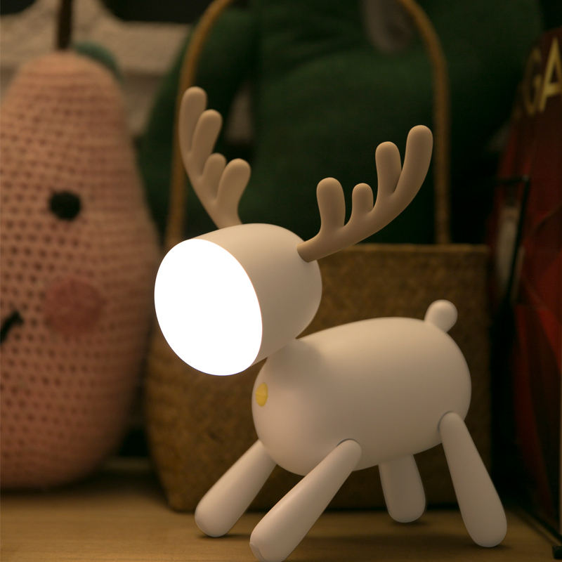 Creative bedroom LED small night light cartoon kids USB bedside lamp table lamp wedding holiday gift
