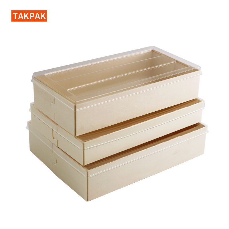 Wood Sushi Container Wood Sushi Packing Box Wood Sushi Packaging