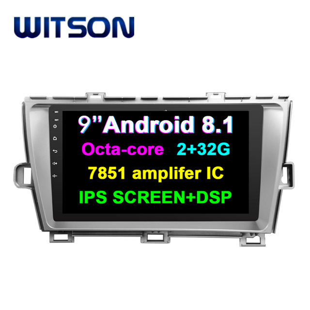 WITSON ANDROID 8.1 Toque Monitor Multimídia Sistema de Áudio Do Carro Para TOYOTA PRIUS 2012 (RHD) 2g de ram 32g rom rádio do carro