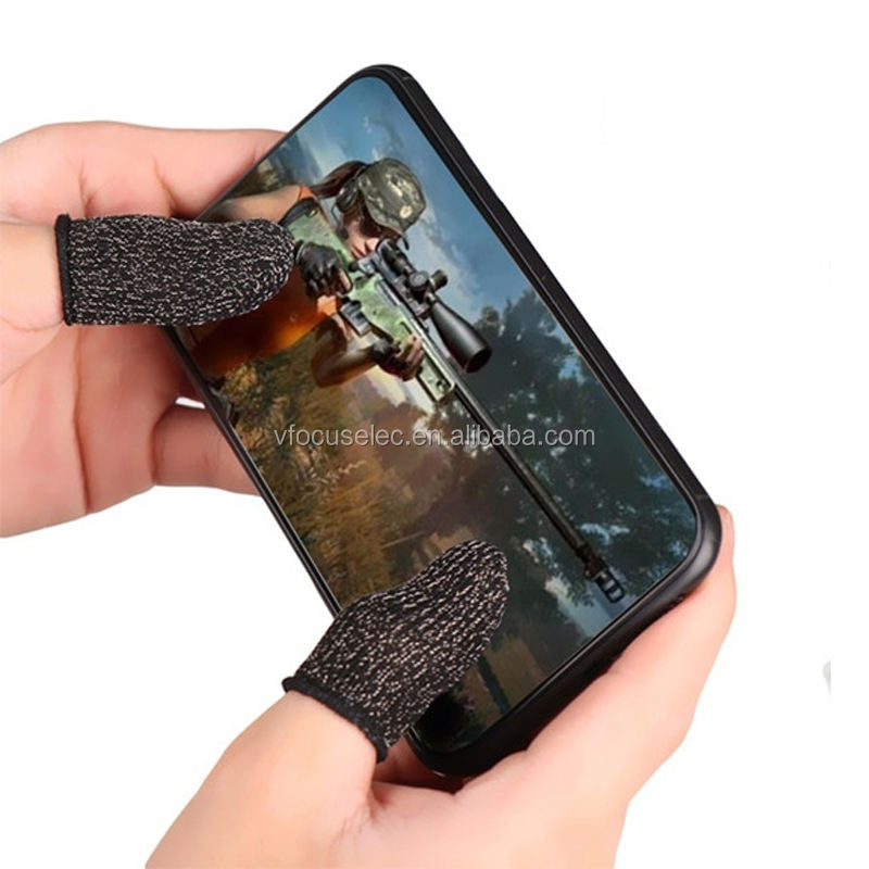 Mobile Gaming <span class=keywords><strong>Finger</strong></span> Sleeve Sweat-proof Touch Screen Daumen <span class=keywords><strong>Finger</strong></span> <span class=keywords><strong>Hülse</strong></span> für Pubg Handy Spiel Gaming Handschuhe
