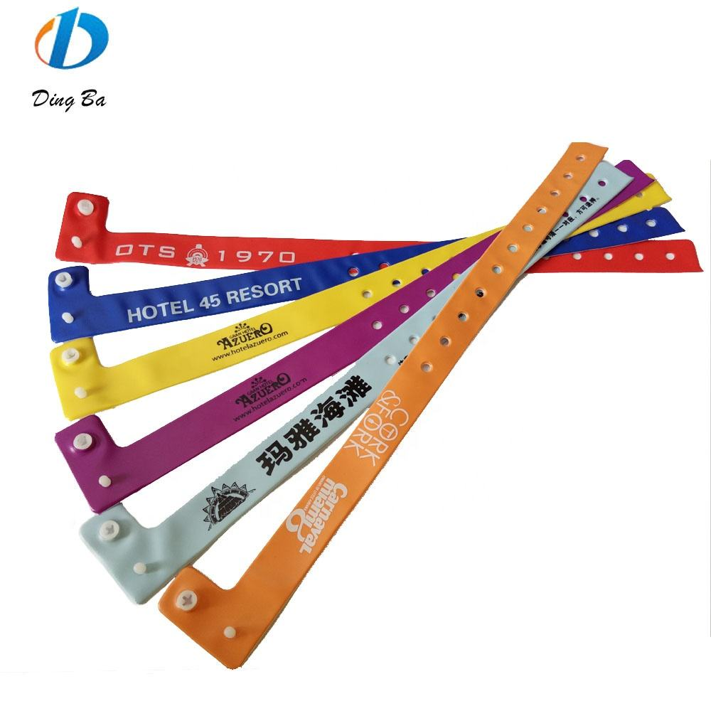 2019 Newest Design One-off Soft Comfortable Vinyl ID Bracelet Wrist band PVC Wristbands For Events
