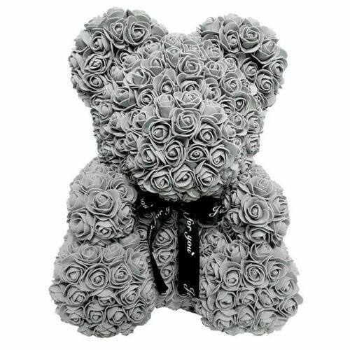 YC01-4 Faux Rose Decorative Flowers For Valentines Day Flower Teddy Bear