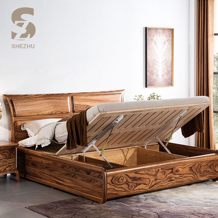 solid wood home single bed designs simple double lift up bed design in woods queen bedroom furniture zebra wood bed with storage