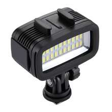 High QualityPULUZ 20 LEDs 40m Waterproof IPX8 Studio Light Video With 2 color filter & hot shoe head & quick removal screw