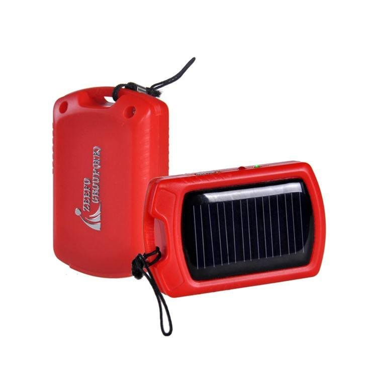 550 mah capacity solar panel battery charger 5v for cellphones with 3led flashlight