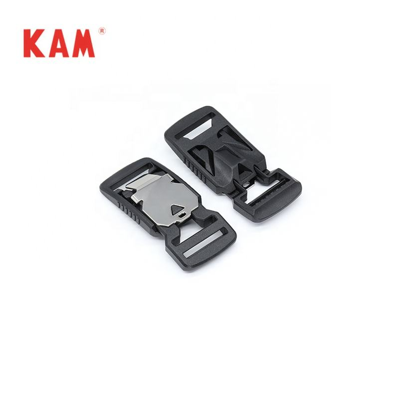 Wholesale Plastic and Metal Magnetic quick release Buckle for handbags