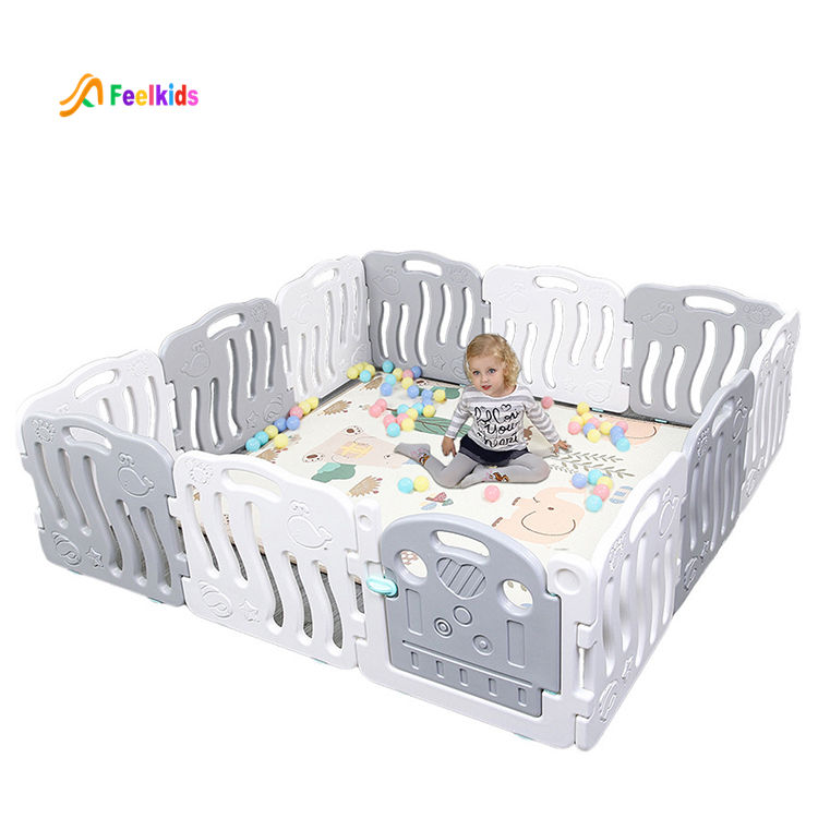 High quality children indoor playground child play yard kids folding fence baby plastic safety playpen