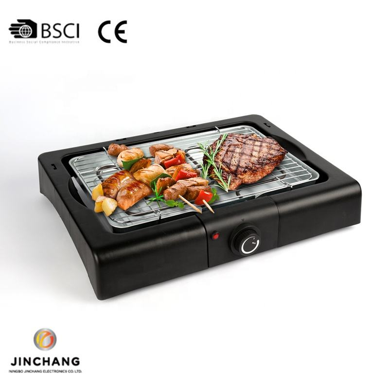 Electric Meat Carrying Portable Casting Bbq Grill For Balcony Cooking