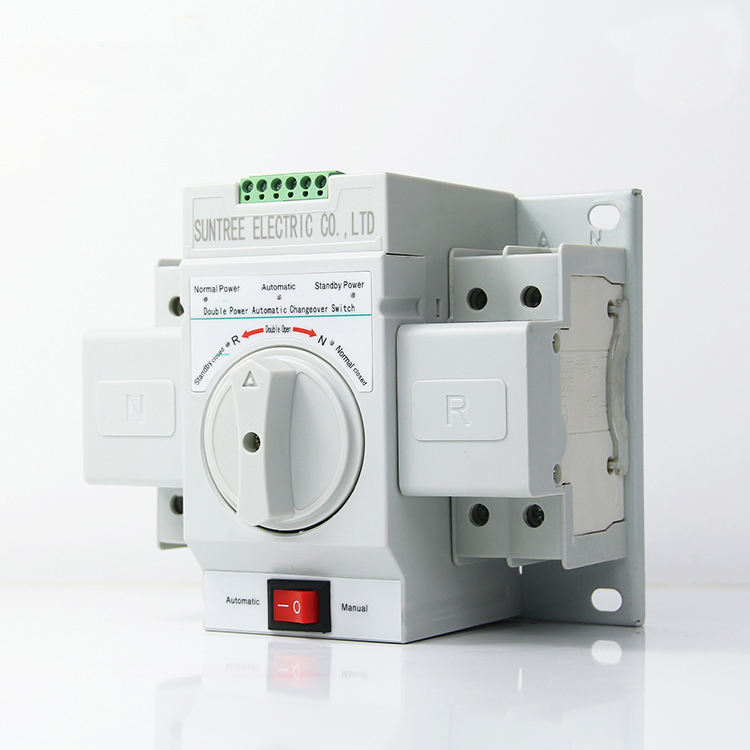 Suntree 2P Automatic Transfer Switch <span class=keywords><strong>ATS</strong></span> AC 220V Automatic Transfer Switch