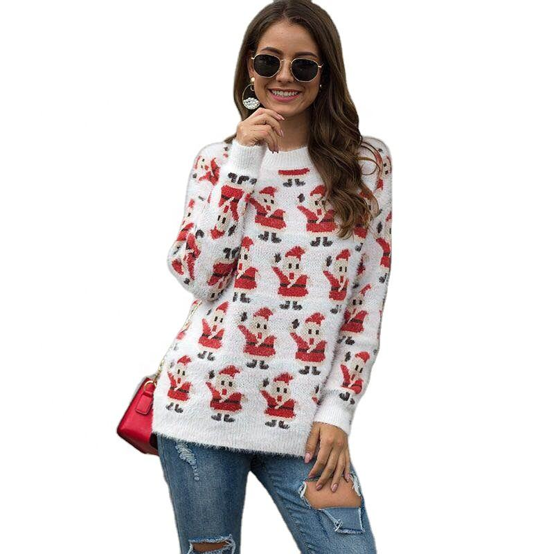 2020 new design family plain ugly Christmas sweater long-sleeved o-neck sweater for women