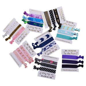 Custom Logo Printed Kid No Crease Elastic Hair Ties Band for Hair Accessories