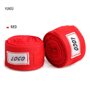 Red High Quality 100% COTTON MMA Training Gustom Logo Boxing Hand Wraps boxing bandage