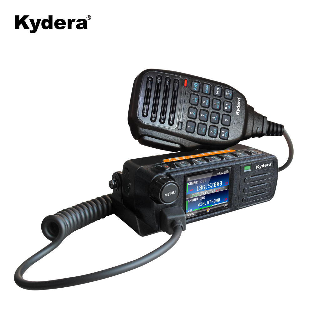VHF UHF Mini dual band DMR mobile radio CDR-300UV vehicle mounted two band DMR mobile walkie talkie & PC cable
