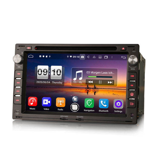 Erisin ES8709V 7 дюймов DSP Android 10,0 CarPlay Android Авто GPS 4G DAB авторадио для VW Golf Polo Lupo Seat Peugeot 307