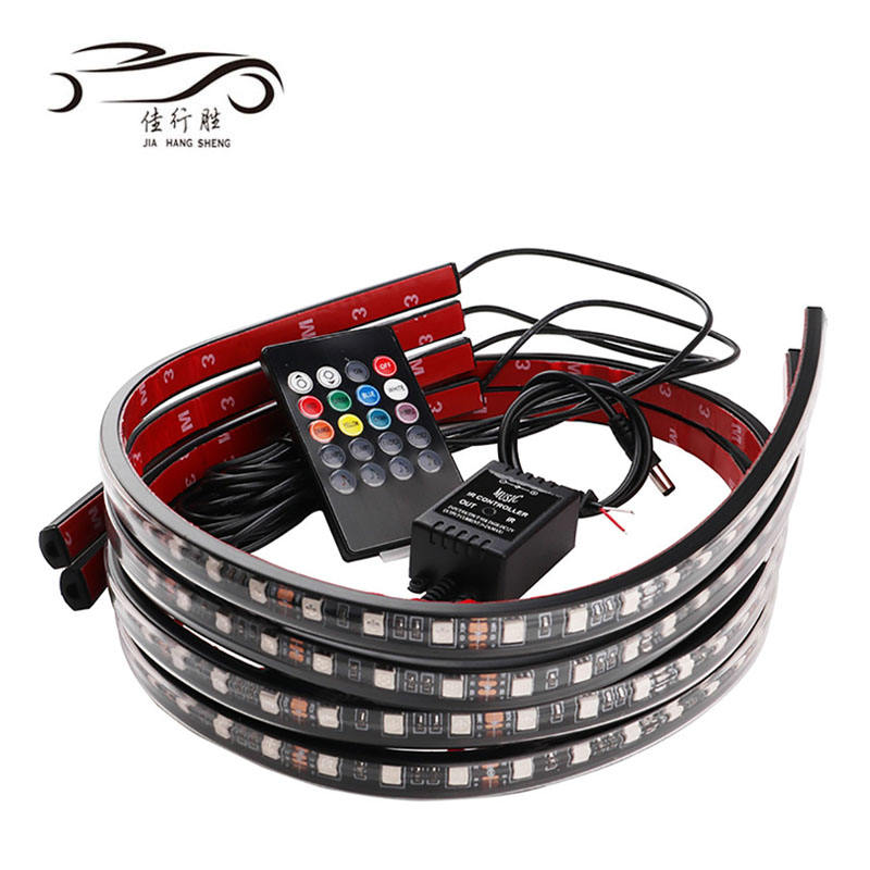 Factory Direct Supply Led Strip Underglow Auto Buis <span class=keywords><strong>Underbody</strong></span> System Light Remote App Controle Rgb Decoratieve Sfeer Lamp