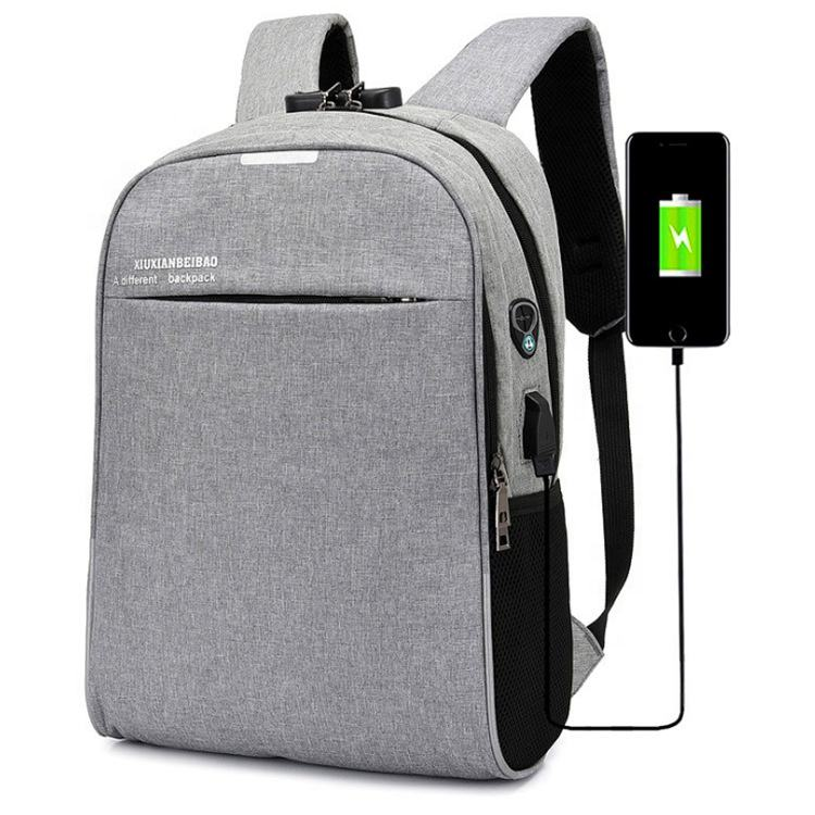 Large Capacity Multifunction Nylon Usb Charging Port Back Pack Travelling Anti Theft Waterproof Smart Laptop Backpack