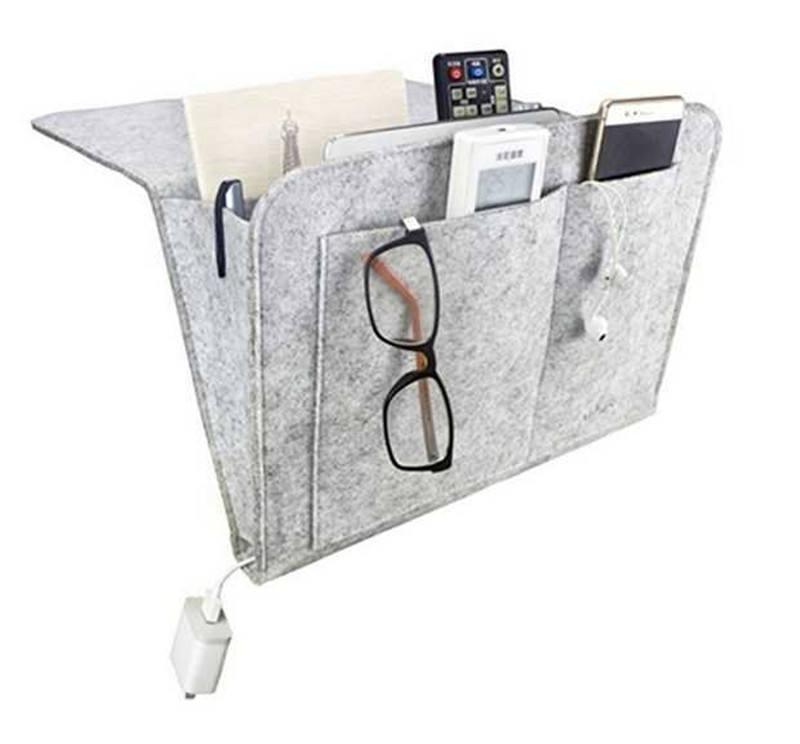 cheap Bed Caddy Storage Organizer bedside pocket felt bedside caddy organizer sofa armest organizer