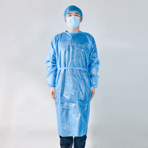 hospital safety clothing production line pvc sertile equipment suit clothing hospital non-woven pp disposable isolation gown