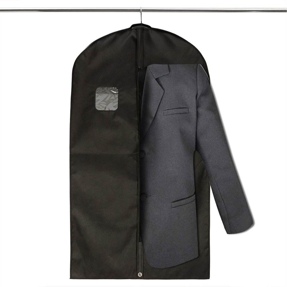 Non woven personalised zip lock garment bag,foldable garment travel suit cover bag with pocket,cloth garment bag wholesale