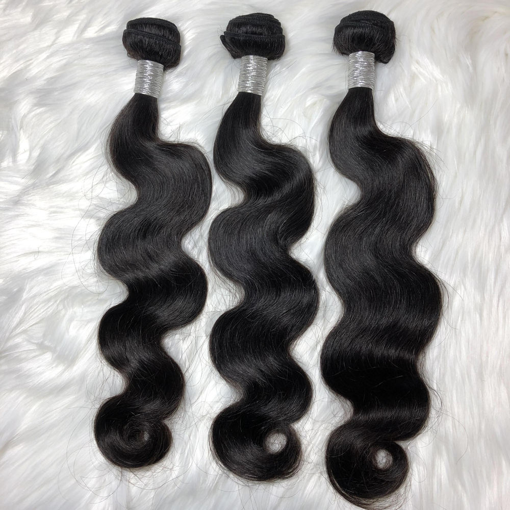 100% Virgin Cuticle Aligned Hair Bundles Brazilian Human Extension Body wave