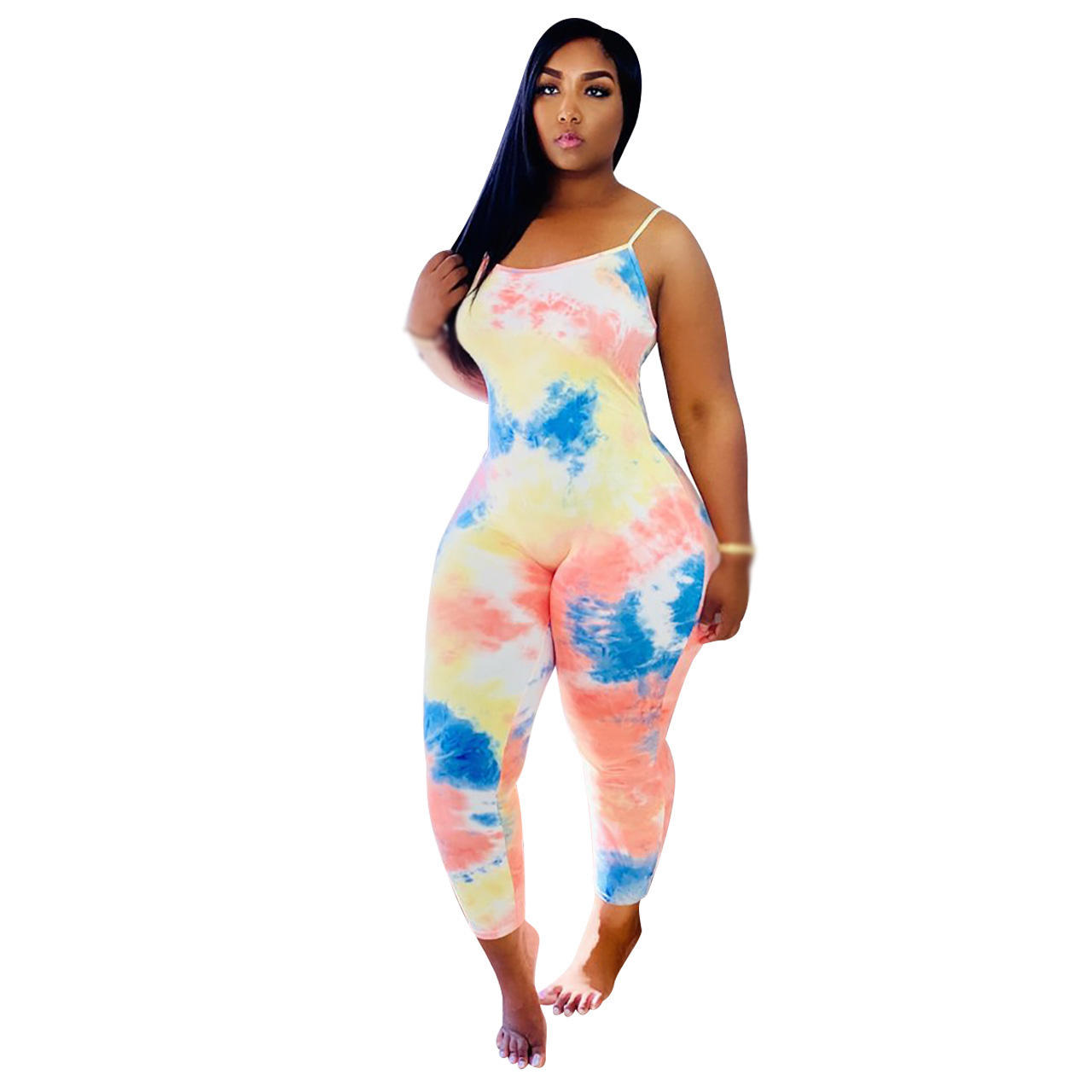 2020 High Quality Multi Color One Piece Sleeveless Women Sexy Stacked Bodycon Jumpsuits