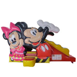 Mickey Mouse Bounce Castle House Inflatable Bouncerสไลด์ComboกระโดดปราสาทBouncyบ้านราคา