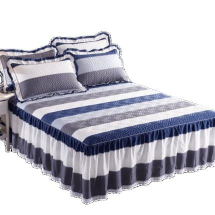 High Quality Cotton Bed Skirts Modern Bed Skirt Cover Set Bedding