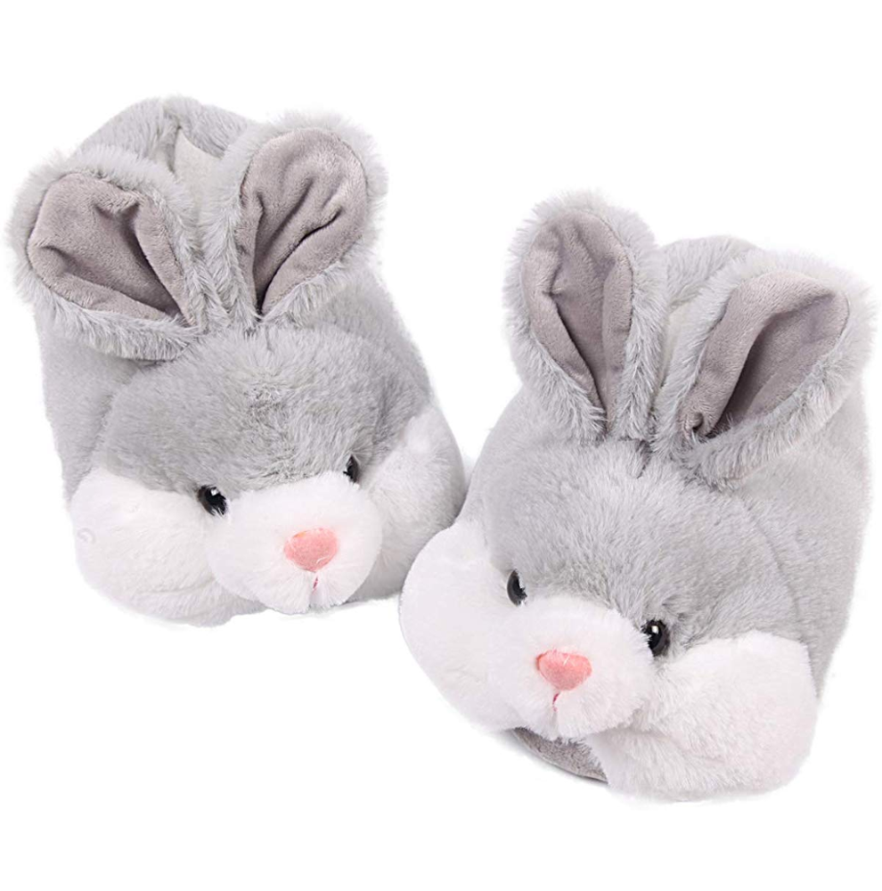 Customized Cute Plush Animal Rabbit Classic Winter Warmies Bunny Slippers