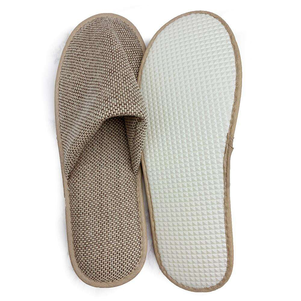 Eco 100% natuurlijke jute bamboe biodegradable slipper (spa, hotel, indoor slipper)