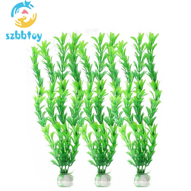 Pet Plastic Plants artificial water grass for Fish Tank Decorations Large Aquarium Decor and Accessories