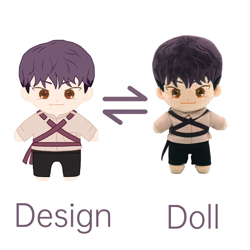 New Fashion Lovely Stand Up Custom Small Plush Dolls Custom Korean Star Doll Kpop Plush Idol Doll