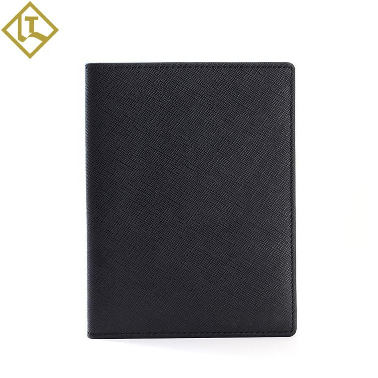 Personalised Handmade slim rfid blocking genuine leather thin minimalist front pocket passport visa card wallets for mens