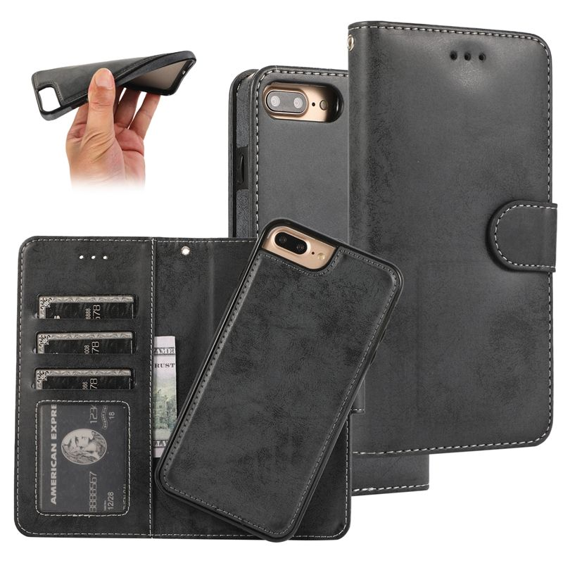 Retro PU Flip Wallet Leather Case for iPhone X 6 6s 7 8 Plus XS Multi Card Holders Phone Cases for iPhone XS Max XR 11 Cover