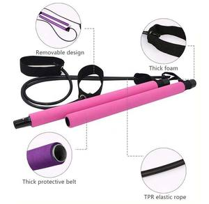 Portable Pilates Studio 2-piece Bar Kit with Resistance Bands