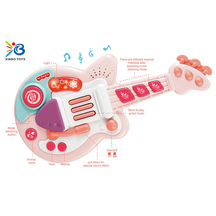 Musical light electric guitar for kids multifunction educational toys