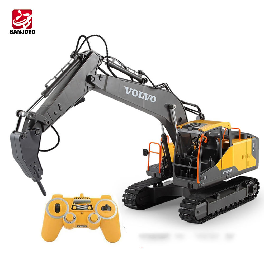 1:16 Authorized Rc Volvo Car Excavator toy with 3 in 1 funtion RC Rock Crawler charging RC car For Sale SJY-E003