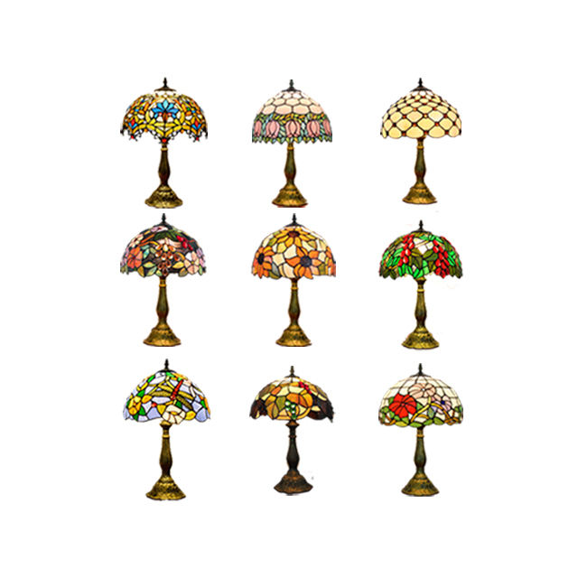 Lampes Tifany Table Stained Glass Lamp Desk Light 12 Inch Night Decorative Lights Classic Antique Style Lighting Tiffany Lamps