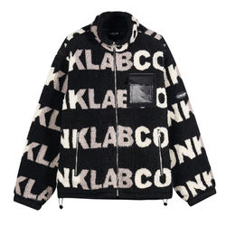 CONKLAB wholesale custom full letter print fleece men zipper