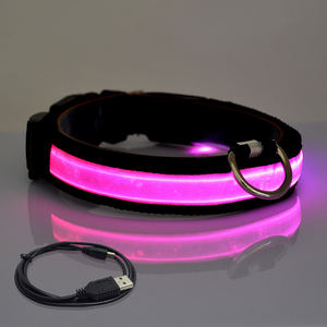 Collar de perro LED con luz intermitente con carga USB ajustable personalizado en oferta de Amazon
