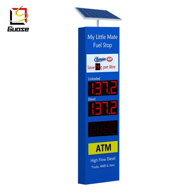 Station Display Pylon Signage Outdoor Advertising Board Led Gas Price Sign