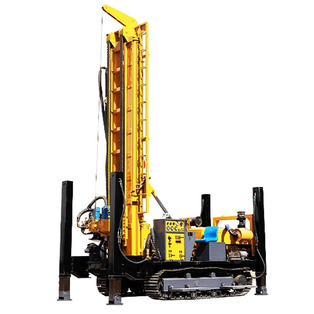 100m, 150m, 200m, 300m, 350m, 600Meters Steel Crawler Mounted Rotary Portable Water Well Drilling Rig Machine
