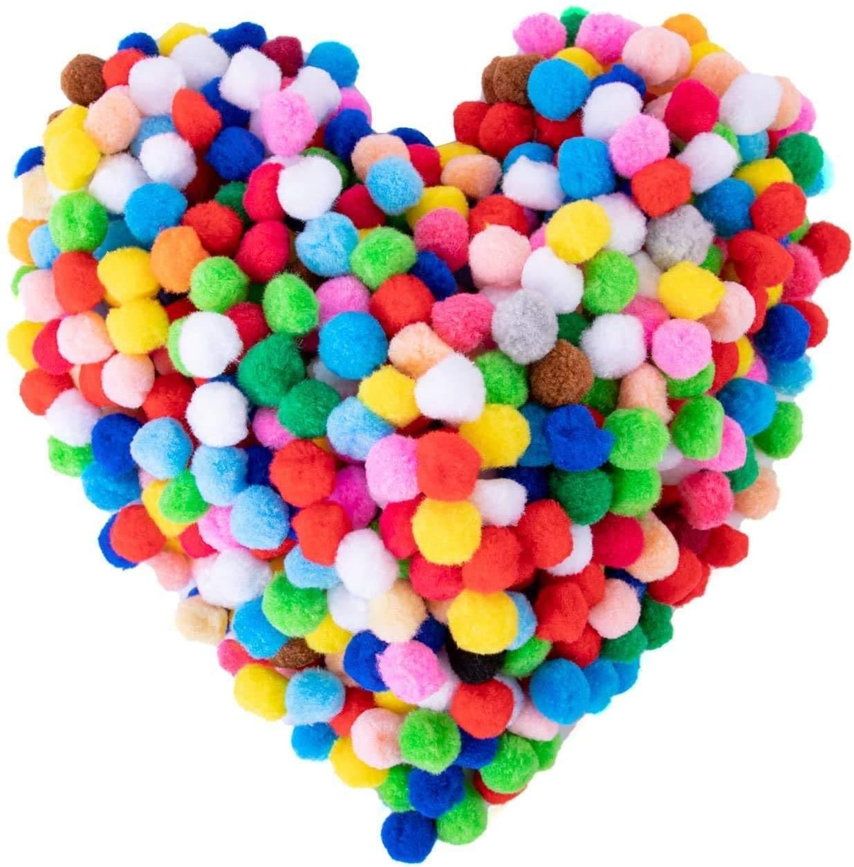 Baby shower ideas Sale on 1000 Pompoms of 1cm 1.5cm 2cm 2.5cm 3cm pompom balls Felt balls Polyester colorful balls.Home DIY Craft pompoms