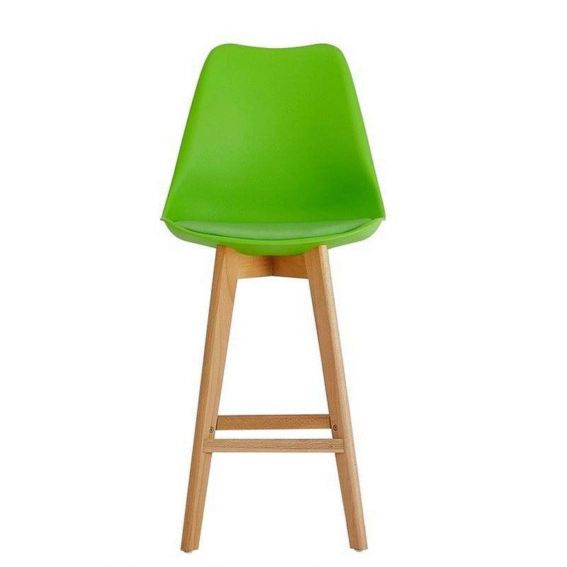 Hot Selling Furniture Cafe Metal Frame Wooden Bar Stool Chair Plastic For Wholesales