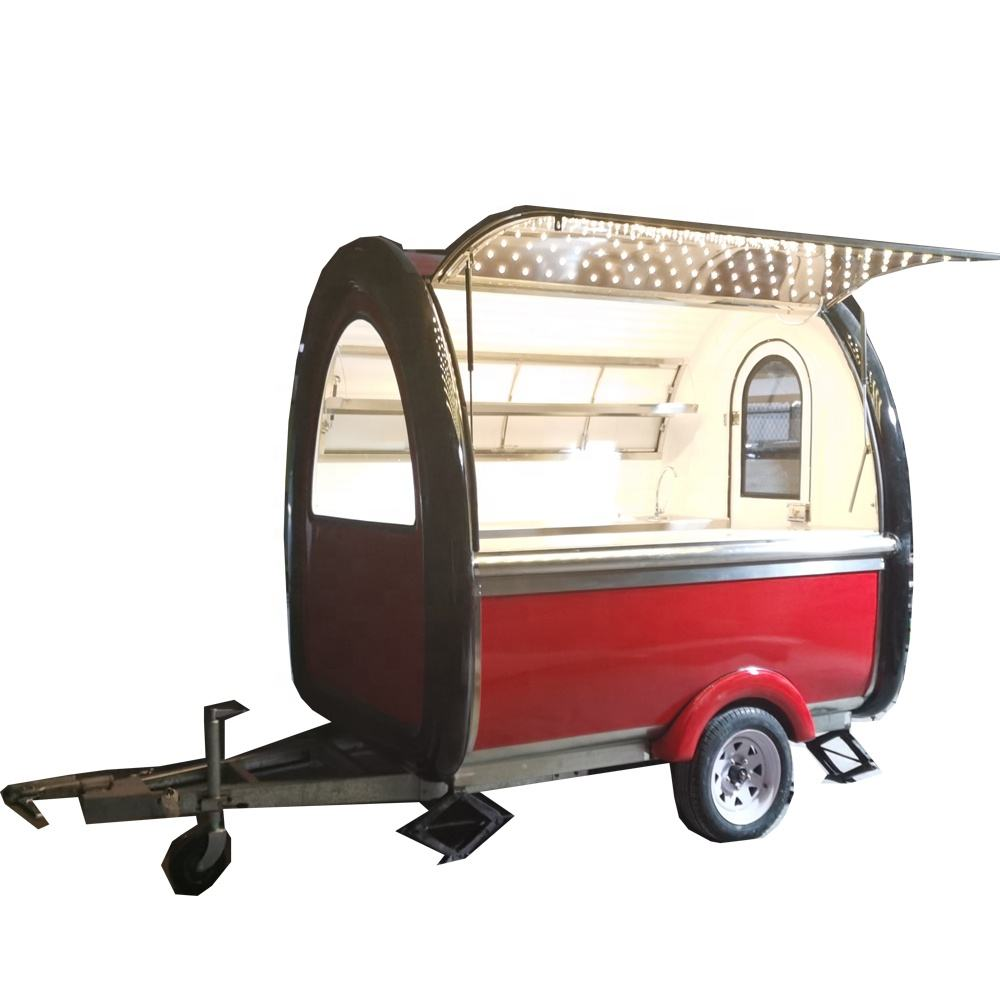 Fiber glass small food trailer carts/used food trucks/fast food vending carts for sale