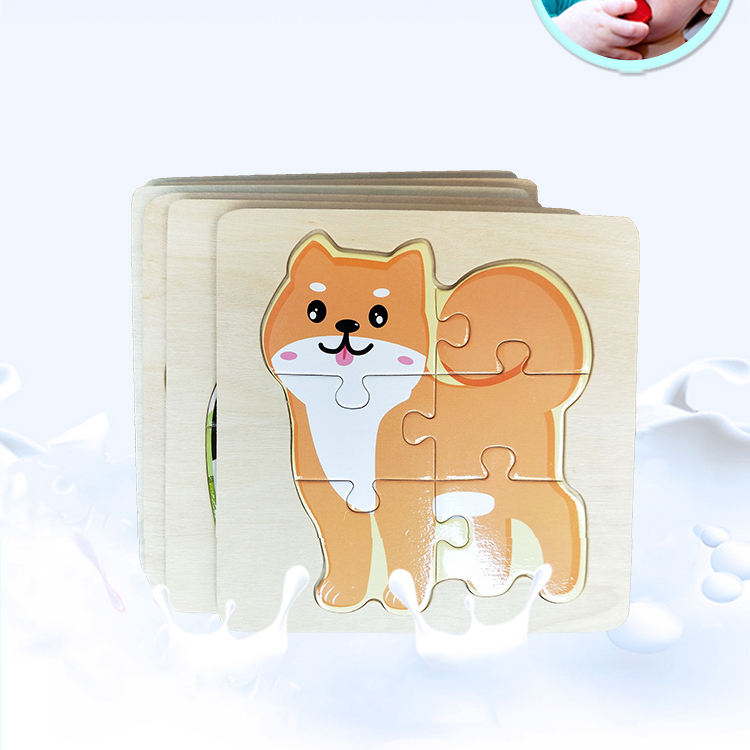 custom wholesale Animals wooden puzzle toy Promotion china children educational jigsaw puzzles