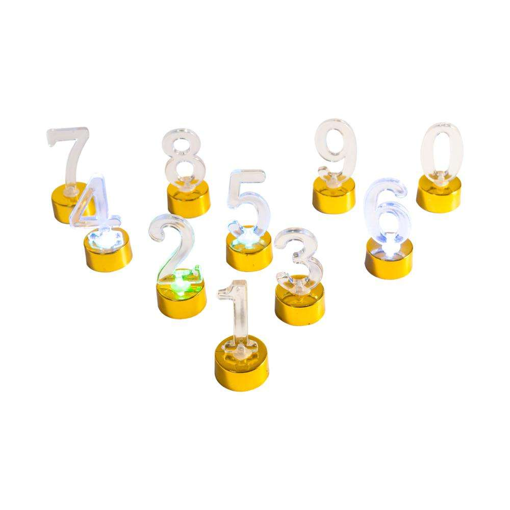 amazon led number birthday candle/bougie led