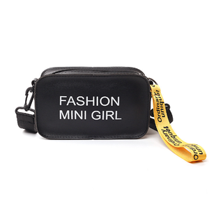 New Style Fashion Letter Woman Slant Span Bag Small Square Single Shoulder Bag Custom Printed Easy Matching PU Hand Bag