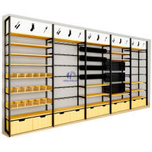 Retail Store Display Shelves Metal and Miniso Wooden Display Rack